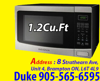 Insignia Countertop Microwave - 1.2 Cu. Ft. - Stainless Steel/Black NS-MW12SS6-C