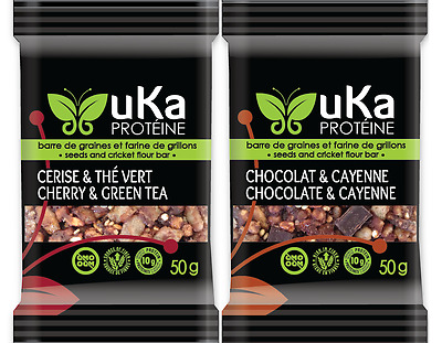 uKa cricket flour gluten-free fibre and protein bars - 4-unit tasting package