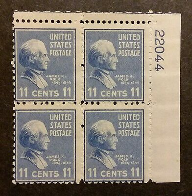 US MNH 816 Plate Block NICE Presidential Series 1938 Prexie Pre-Eye #22044 2W