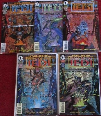 STAR WARS TALES OF THE JEDI FALL OF THE SITH EMPIRE #1-5 Full Set! Dark Horse