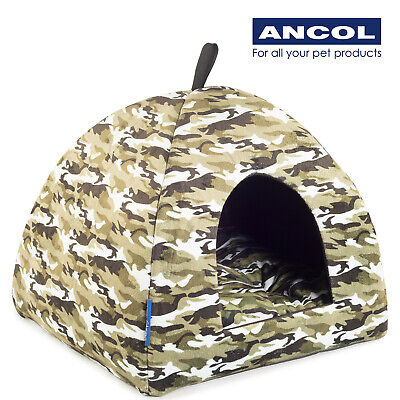 NEW Ancol Pyramid Bed Luxury Cat Small Dog Puppy Soft Bed Washable House Igloo