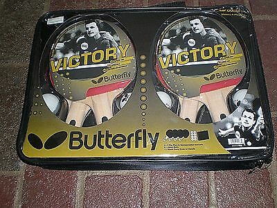 Brand New Butterfly Victory 4-Player Table Tennis Set