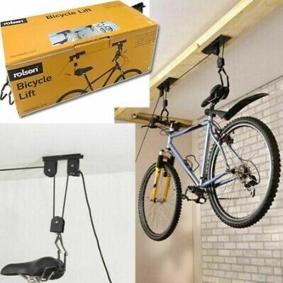 20KG Bike Bicycle Cycle Pulley Lift Space Saving Garage Basement Ceiling Storage