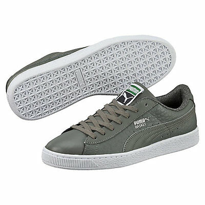 cheap for discount 836cc aae8b NEW PUMA BASKET Classic Textured Men's Casual Shoes Sneakers Asparagus  360191 03