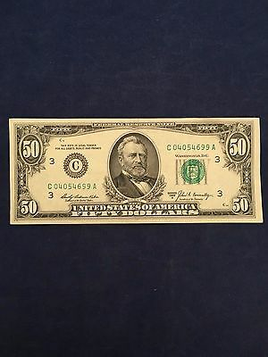 1969A Federal Reserve Note $50 Fifty Dollar Bill S. # C04054699A