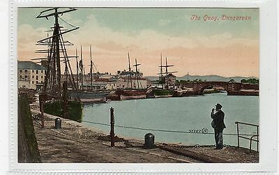 THE QUAY, DUNGARVAN: Co Waterford Ireland postcard (C25717)