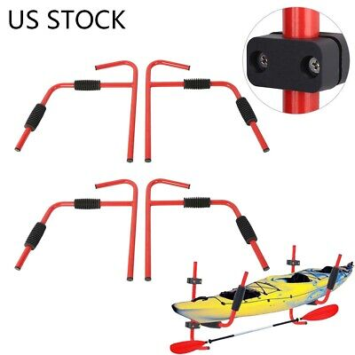 2 Pairs Kayak Ladder Wall Mount Storage Rack Surfboard Canoe Folding Hanger