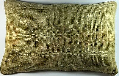 16'X24' beige pale color throw pillow cushion cover rug pillow turkish vintage