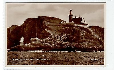 ISLAND OF FIDRA AND LIGHTHOUSE: East Lothian postcard (C25821)