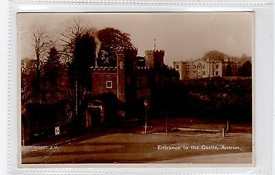 ENTRANCE TO THE CASTLE, ANTRIM: Co Antrim Northern Ireland postcard (C25859)