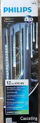 Philips Indoor/ Outdoor 12 Icicle LED Lights CASCADING EFFECT Create Motion NEW
