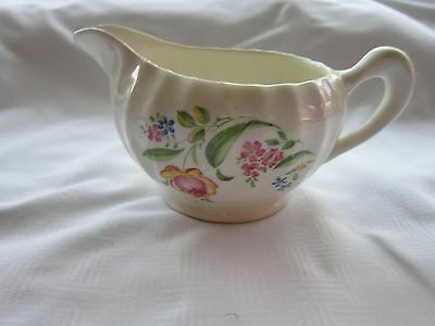 W. S. George Bolero Pink Rose Blue Flowers Green Leaves Pitcher / Creamer
