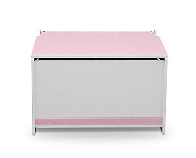 Delta Children Wooden Toy Box  Pink