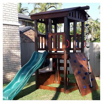 New Kids Fort With Climbing Wall - Delivery Available