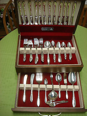 ENORMOUS 84pc Service for 12 vintage-antique LADY HAMILTON Community Silverplate