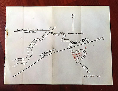 1900 Fort Keogh Military Reservation Miles City Sketch Map Yellowstone R N.P.RY.