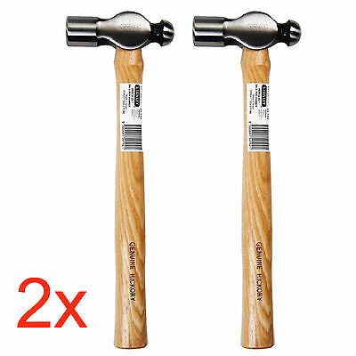 2x Stanley HERCULES BALL PEIN HAMMER w/ Wooden Hickory Handle 225g/8oz 54-189