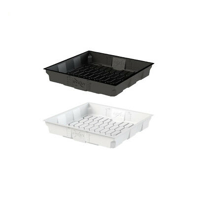 X-Trays Flood Table - 122CM x 122CM | 4 x 4 ft | Flood & Drain Tray | Black Whit