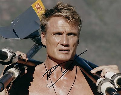 Dolph Lundgren Signed Autographed 8x10 Photo Rocky The Expendables COA VD