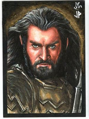 2015 Cryptozoic Hobbit Battle Five Armies Jason Potratz & Jack Hai 1/1 Sketch