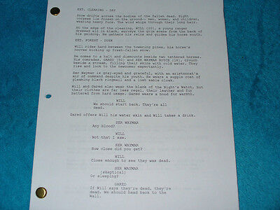 Game Of Thrones Pilot Script  Lena Headey Peter Dinklage Emilia Clarke Sean Bean