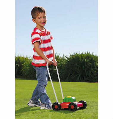 NEW Orbit Metal Mighty Lawn Mower Pretend Play with Realistic Engine Sounds