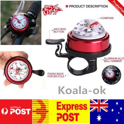 Mountain Bike Aluminum Alloy Bicycle Cycling Bell Horn Red Bike Accessories KS