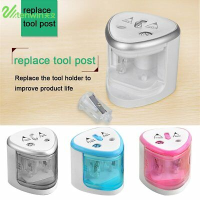 Electric Automatic Pencil Sharpener Dual Holes Battery Operated School Office KS