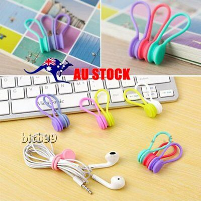 3Pcs/Set Magnetic Headphone Earphone Cable Winder Cord Wire Organizer Wrap KS