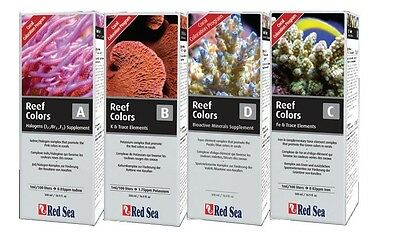 Red Sea Coral Colours A B C D MARINE REEF TREATMENTS TEST KIT AQUARIUM FISH TANK