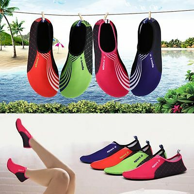 Women Men's Water Shoes Slip On Flexible Pool Beach Swim Surf Yoga Slipper Shoes