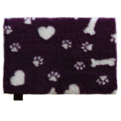 Vetbed Isobed SL purple Hearts, Paws & Bones rutschfest