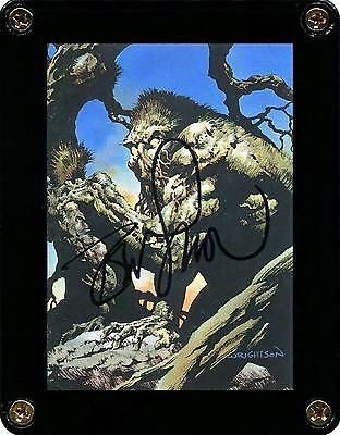 ☆ Bernie Wrightson Swamp Thing Signed Master of the Macabre Trading Card #26 ☆