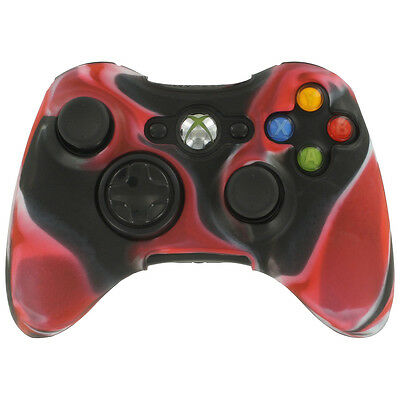 Extreme Grip Skin Camouflage Silicone Rubber Case Cover for Xbox 360 Controller