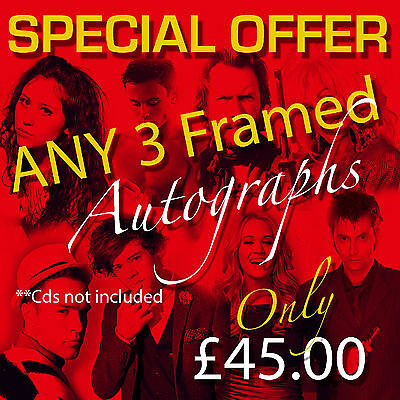 SPECIAL OFFER - ANY 3 MOUNTED FRAMED AUTOGRAPHS (CD's not included)
