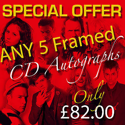 Special Offer - Any 5 Mounted Cd And Covers Framed Autographs