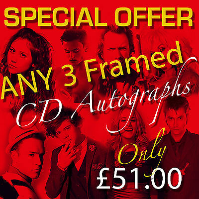 Special Offer - Any 3 Mounted Cd And Covers Framed Autographs