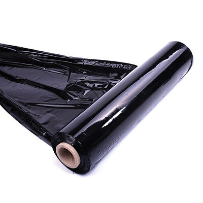 2X Strong Roll-Black-Pallet-Stretch-Shrink-Wrap Cast Parcel Packing Cling Film