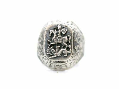Offizier Ring Silber 84 St.George Zaren Russland Russian Imperial Russia