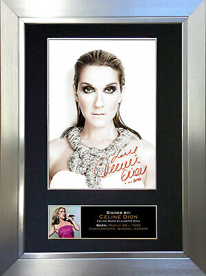 CELINE DION Mounted Signed Photo Reproduction Autograph Print A4 223