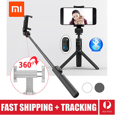 New Xiaomi Bluetooth Selfie Stick Tripod Remote Control 360° Clamp iOS Android
