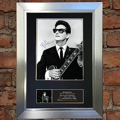 ROY ORBISON Mounted Signed Photo Reproduction Autograph Print A4 378