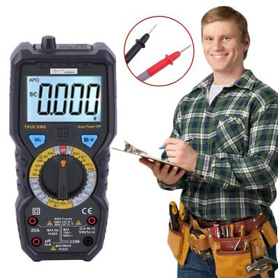 LCD Auto Range Multimeter Temperature Capacitance Frequency AC DC OHM Tester New