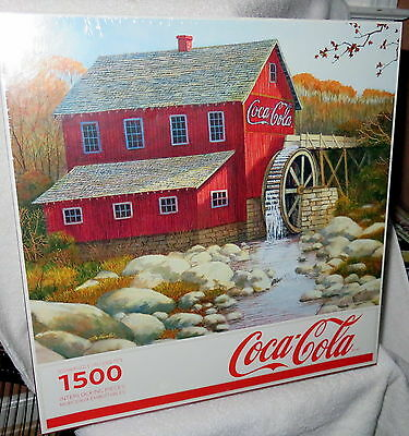 COCA COLA SPRINGBOK OLD GRIST MILL Jigsaw Puzzle 1500 Piece New Sealed In Box