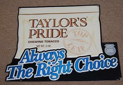 d8d6085b976367 VINTAGE METAL TIN tobacco sign Taylors pride chewing tobacco ...