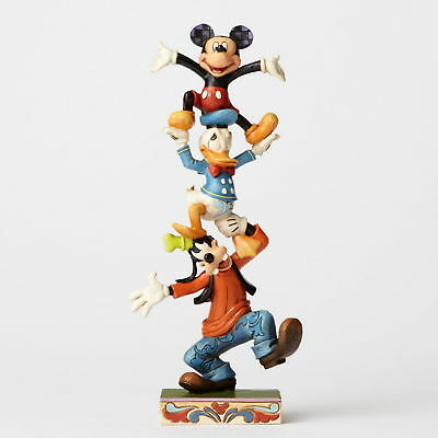 "Jim Shore Figur 4055412 ""GOOFY DONALD & MICKEY Pyramide"" ENESCO DISNEY Skulptur"