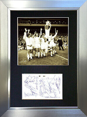 LEEDS UNITED Mounted Signed Photo Reproduction Autograph Print A4 441