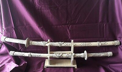 Pair of Chinese Bone Swords
