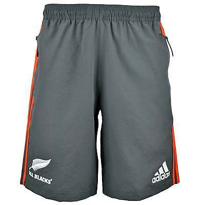 Adidas New Zealand All Blacks Woven Rugby Shorts - Grey