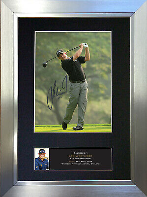 LEE WESTWOOD Mounted Signed Photo Reproduction Autograph Print A4 457